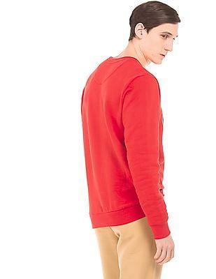 Arrow Sports Printed Front Regular Fit Sweatshirt