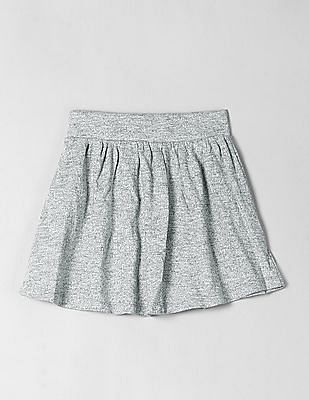 GAP Girls Grey Knitted A-Line Skirt