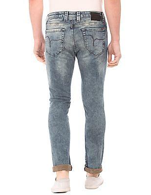 Flying Machine Acid Wash Slim Tapered Fit Jeans