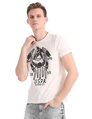 U.S. Polo Assn. Denim Co. Regular Fit Graphic Print T-Shirt