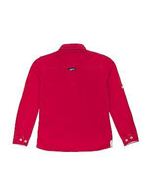 U.S. Polo Assn. Kids Boys Button Down Knit Shirt