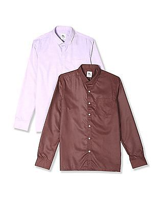 Excalibur Assorted Cutaway Collar Patterned Shirt - Pack Of 2