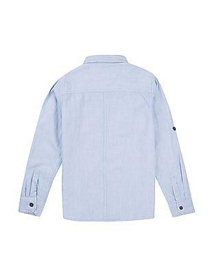 Cherokee Boys Contrast Trim Cotton Shirt