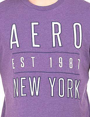 Aeropostale Heathered Embroidered T-Shirt