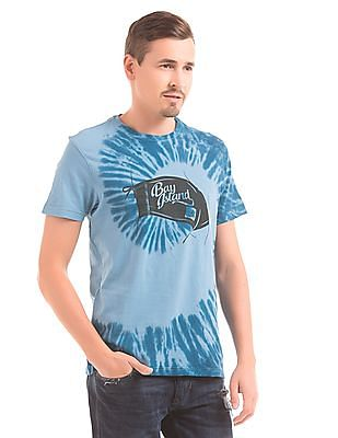 1af974e4b36f9f Buy Men Slim Fit Tie Dye Print T-Shirt online at NNNOW.com