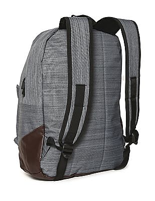 Flying Machine Grey Patterned Laptop Backpack
