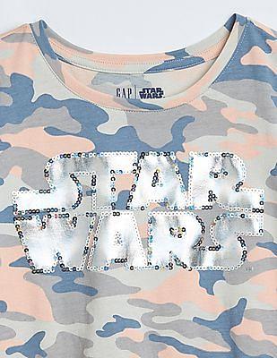 GAP Girls Gapkids | Star Wars™ Sequin Graphic T-Shirt
