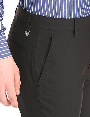 Arrow Newyork Flat Front Slim Fit Trousers