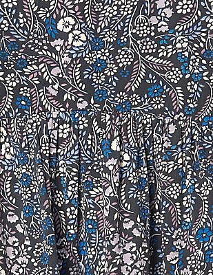 GAP Girls Blue Floral Print Dress