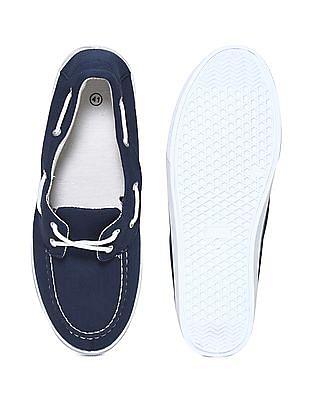Colt Blue Contrast Lace Canvas Boat Shoes