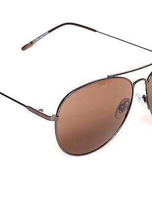 Flying Machine Brown Round Frame UV Protected Sunglasses