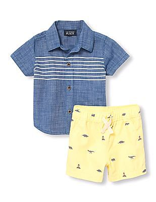 The Children's Place Baby Boy Oxford Shirt Set