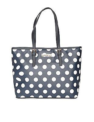 U.S. Polo Assn. Women Polka Dot Print Tote Bag