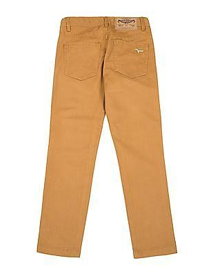 FM Boys Boys Slim Fit Cotton Twill Trousers