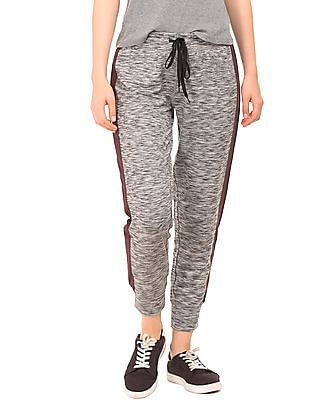 Aeropostale Contrast Panel Heathered Joggers
