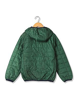 U.S. Polo Assn. Kids Boys Long Sleeve Quilted Jacket