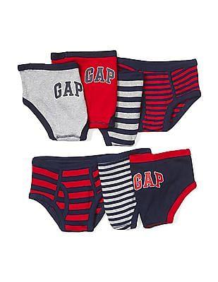 GAP Baby Assorted Logo Stripe Underwear (7-Pack)