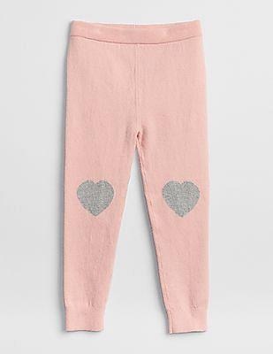 GAP Baby Pink Graphic-Knee Sweater Leggings