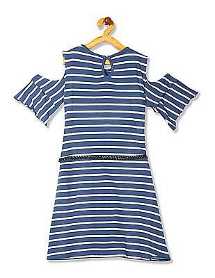 Cherokee Girls Cold Shoulder T-Shirt Dress
