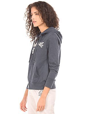 Aeropostale Applique Front Hooded Sweatshirt