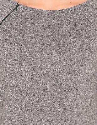Cherokee Raglan Sleeve Heathered Top