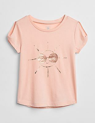GAP Baby Graphic Twist-Sleeve T-Shirt