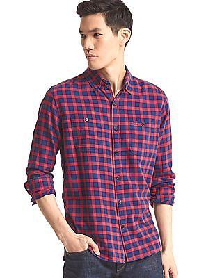 GAP Men Red Flannel Check shirt