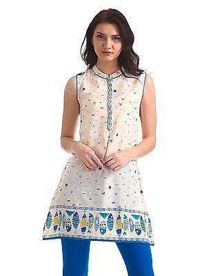Karigari Sleeveless Printed Kurta