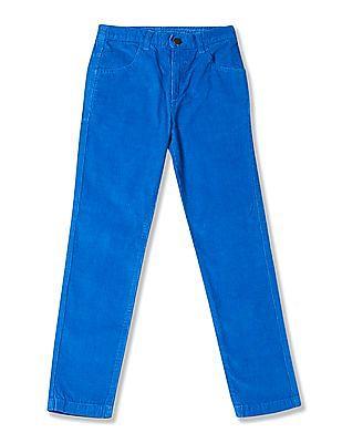 U.S. Polo Assn. Kids Boys Flat Front Corduroy Trousers