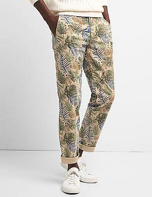 GAP Washwell Vintage Wash Khakis In Slim Fit With GapFlex