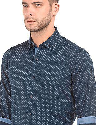 Nautica Printed Slim Fit Shirt