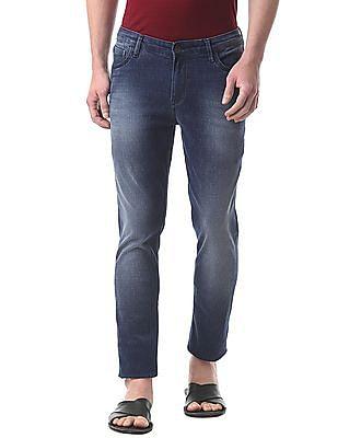 True Blue Slim Fit Patterned Jeans