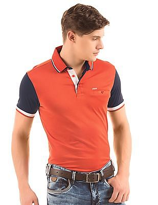 Izod Slim Fit Contrast Sleeve Polo Shirt