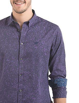 Flying Machine Slim Fit Splatter Print Shirt