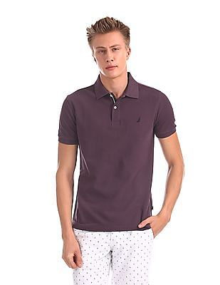 Nautica Short Sleeve Pique Solid Deck Polo Shirt