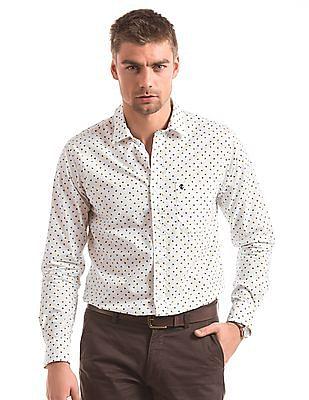 Izod Geometric Print Slim Fit Shirt