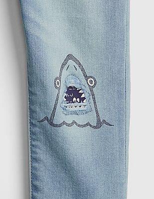 GAP Toddler Boy Superdenim Graphic Slim Jeans With Fantastiflex