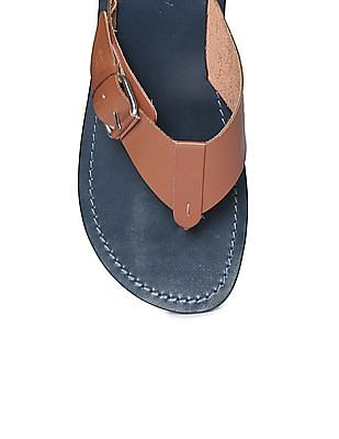 Arrow Colour Blocked Leather Sandals