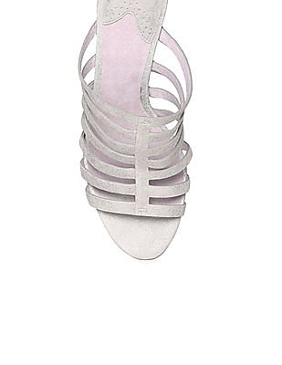 Johnston & Murphy Caged Strap Peep Toe Heels