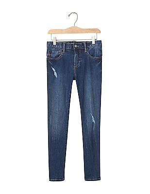 GAP Boys 1969 High Stretch Destructed Skinny Jeans