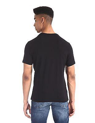 U.S. Polo Assn. Denim Co. Black Crew Neck Printed T-Shirt