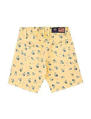 U.S. Polo Assn. Kids Girls Regular Fit Floral Print Shorts