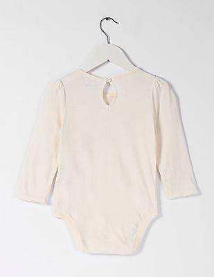 GAP Baby White Sparkle Logo Bodysuit