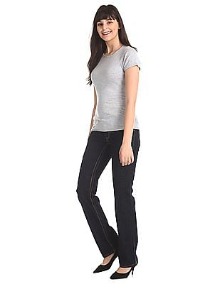 Flying Machine Women Blue Regular Fit Rinsed Jeans