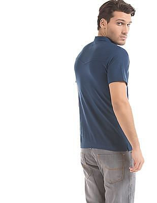 Cherokee Panelled Slim Fit Polo Shirt