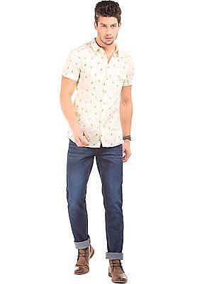 Colt Surfer Print Cotton Shirt