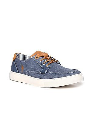 U.S. Polo Assn. Contrast Lace Panelled Sneakers
