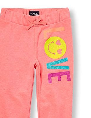The Children's Place Girls Active Embellished Graphic Jogger Pants