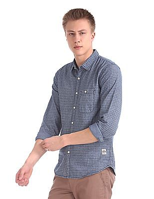 Cherokee Long Sleeve Check Shirt