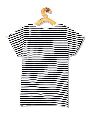 Cherokee Girls Short Sleeve Striped T-Shirt